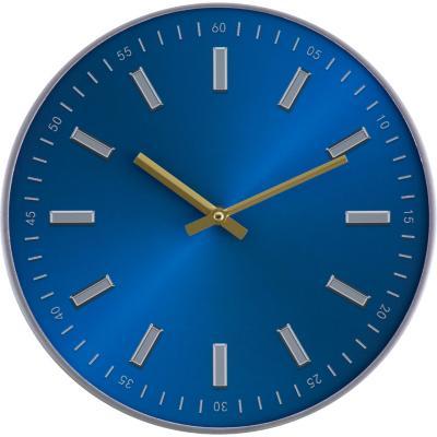 Reloj redondo metalico 3 cm azul