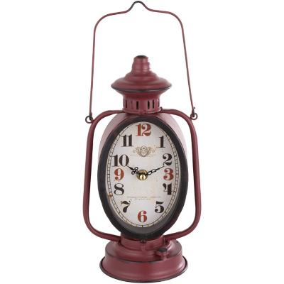 Reloj mesa 34x14 cm linterna antigua