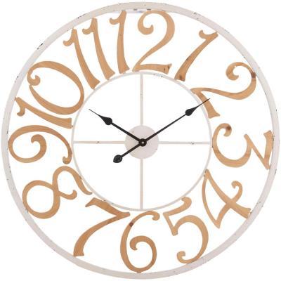 Reloj muro redondo 80 cm blanco