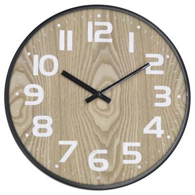 Reloj redondo metalico 31 cm café