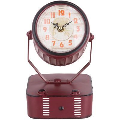Reloj mesa 34x14 cm foco antiguo