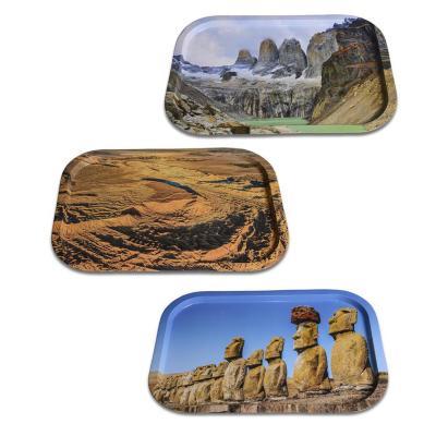 Set de 3 bandejas metálicas fotografías de chile