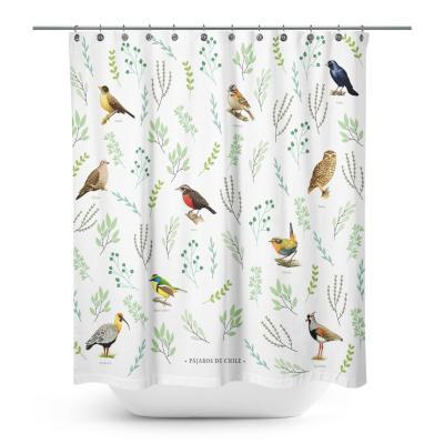 Cortina de baño selección de pájaros chilenos