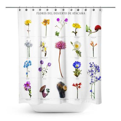 Cortina de baño flores del desierto de atacama