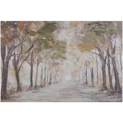 Canvas con aplicaciones de oleo Alameda 60x90 cm
