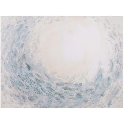 Canvas con aplicaciones de oleo Luz 90x120 cm