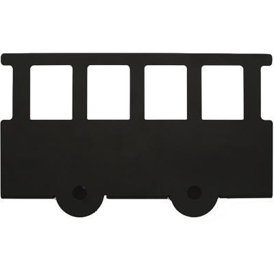 Repisa acero 22,5x12 cm Negra