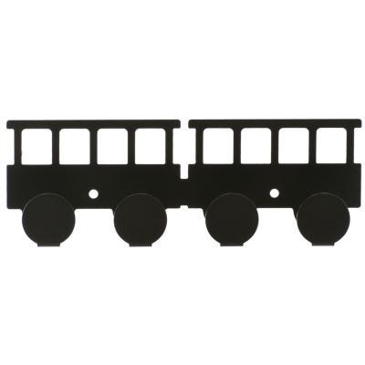 Percha 4 gancho vagón negro