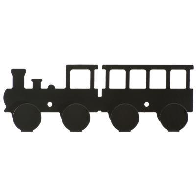 Percha 4 ganchos locomotora negra