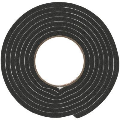 Burlete espuma goma negro 9,5 mm x 7,9 mm