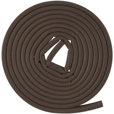 Caucho sintético perfil D 7,9 mm x 6,35 mm marrón