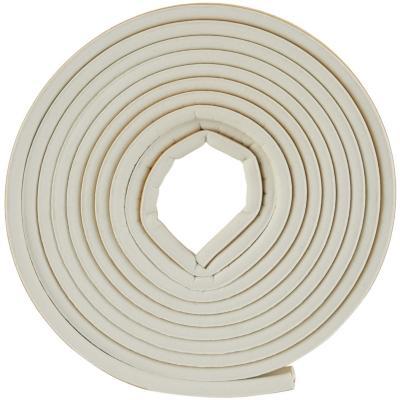Caucho sintético perfil P 9,5 mm x 5,5 mm blanco