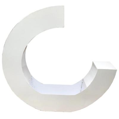 Macetero acero forma de c blanco