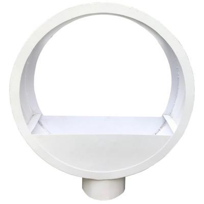 Macetero acero círculo blanco