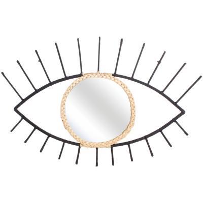 Espejo ojo 72x52 cm negro