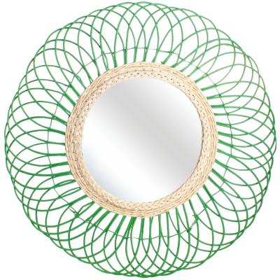 Espejo Sol de Arauco 80 cm verde