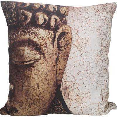 Cojín Buda Cara Étnico Dorado 55x55 cm
