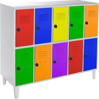 Lockers kids 10 puertas 137x50x120 cm multicolor