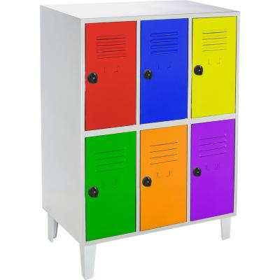 Lockers kids 6 puertas 83x50x120 cm multicolor