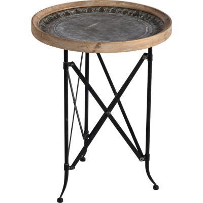 Mesa lateral estructura metal alto