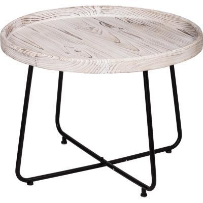 Mesa lateral en madera de abeto blanco