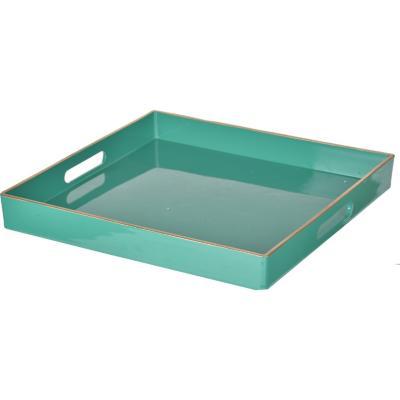Bandeja plástico cuadrada verde