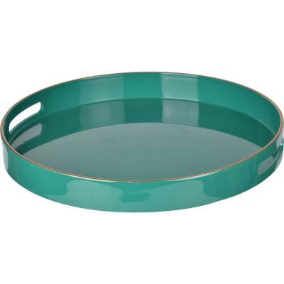 Bandeja plástico redondo verde