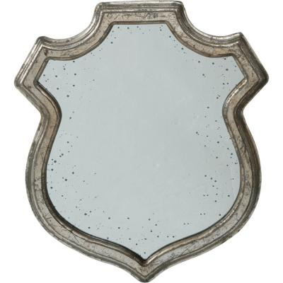 Espejo con marco de madera pintado plateado envejecido