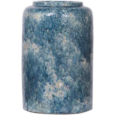 Florero de terracota turquesa 30 cm