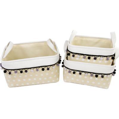 Set 3 cajas para clóset pompones