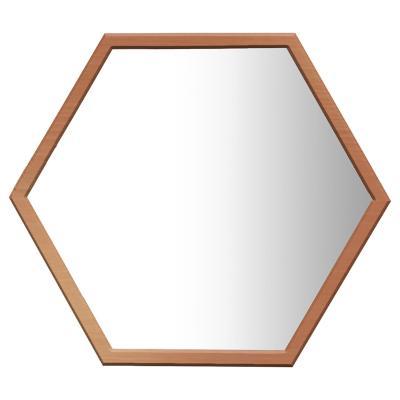 Espejo Hexagonal 54x46 cm madera