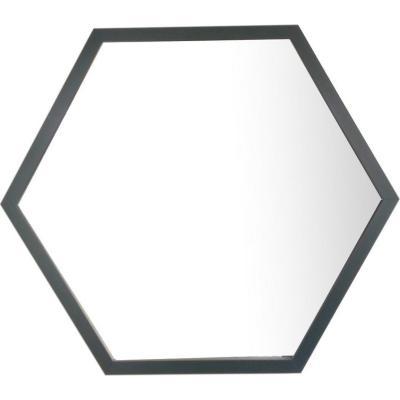 Espejo Hexagonal 54x46 cm negro
