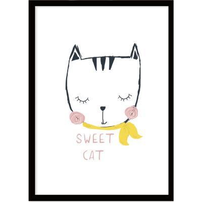 Cuadro Sweet Cat 40x30 cm