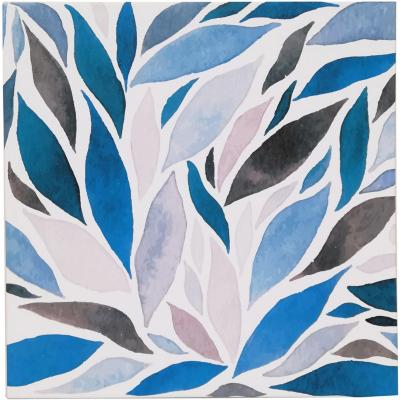 Canvas Blue Leafs 50x50 cM