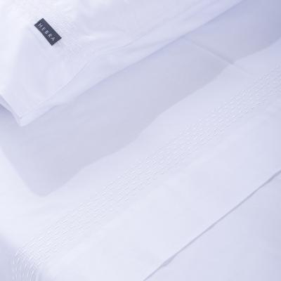 Juego de sábanas Arco 300 hilos 2 plazas blanco