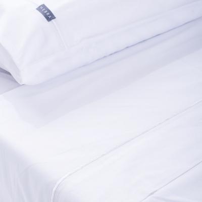 Juego de sábanas Entrelíneas 180 hilos 2 plazas blanco