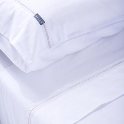 Juego de sábanas Interlíneado 180 hilos 2 plazas beige