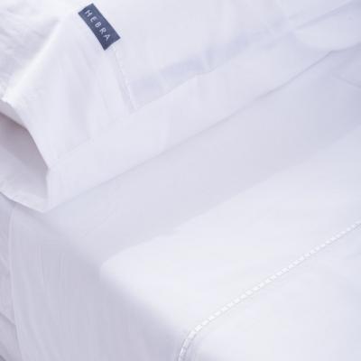 Juego de sábanas Interlíneado 180 hilos 2 plazas blanco