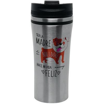 Mug silver akita café