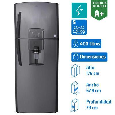 Refrigerador no frost top mount freezer 400 litros negro