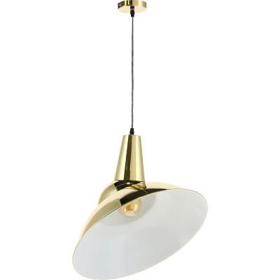 Lámpara de colgar Metal Pizarro Dorado