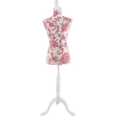 Maniquí decorativo grande Barroco Rosa