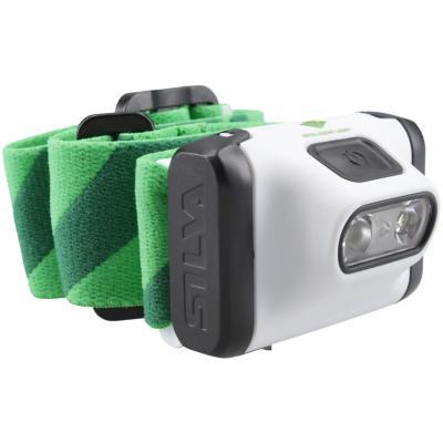 Linterna frontal verde