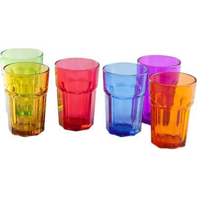 Set vasos 6 unidades de vidrio 430 cc