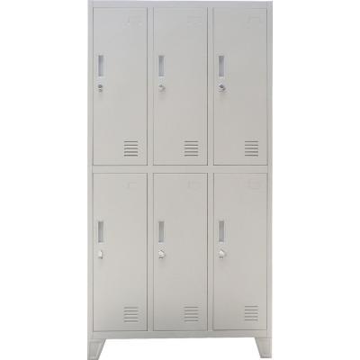 Locker acero 6 puertas con portancandado