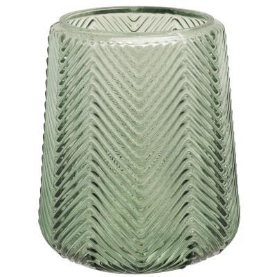 Vase de vidrio decorativa 14 cm, variedad de colores