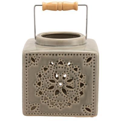 Portavela de ceramica, 16 cm, surtido de colores