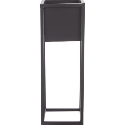 Macetero cuadrado base metal, 70 cm