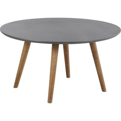 Mesa de centro gris/madera