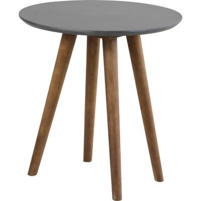 Mesa lateral gris/madera